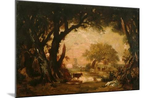 Clearing in the Woods of Fontainebleau-Th?odore Rousseau-Mounted Giclee Print