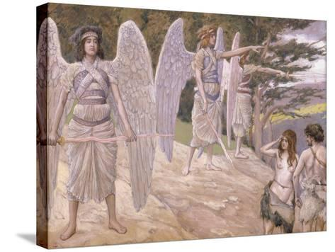 Adam and Eve Driven from Paradise, 1896-1902-James Jacques Joseph Tissot-Stretched Canvas Print