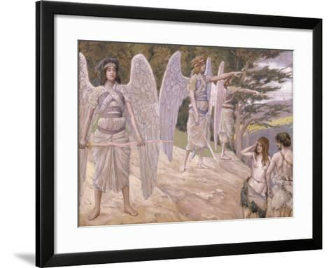 Adam and Eve Driven from Paradise, 1896-1902-James Jacques Joseph Tissot-Framed Art Print