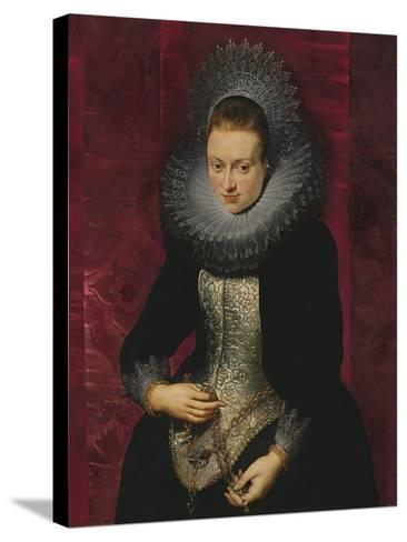 Portrait of a Young Woman with a Rosary-Peter Paul Rubens-Stretched Canvas Print