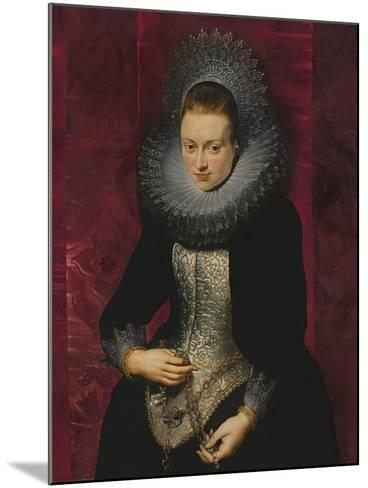 Portrait of a Young Woman with a Rosary-Peter Paul Rubens-Mounted Giclee Print