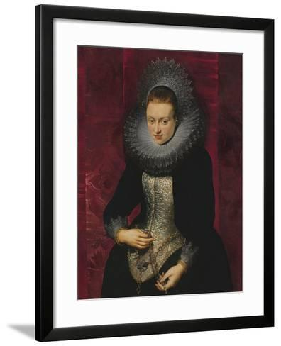 Portrait of a Young Woman with a Rosary-Peter Paul Rubens-Framed Art Print