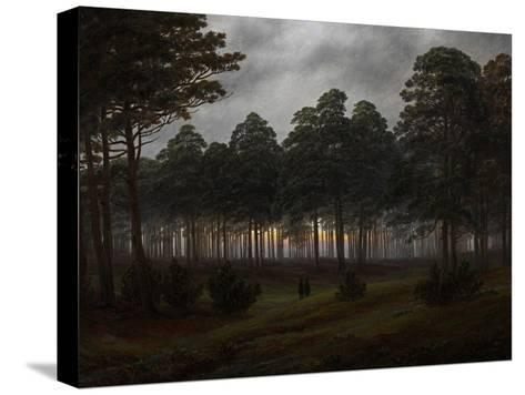 The Times of Day: the Evening, 1821-1822-Caspar David Friedrich-Stretched Canvas Print