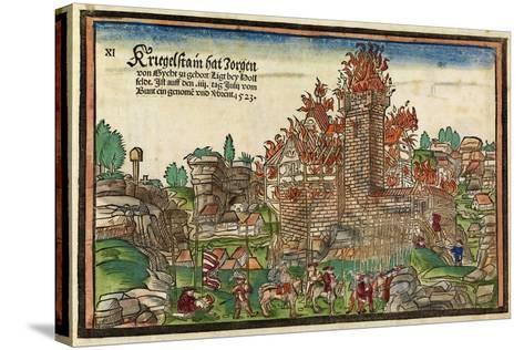 Destruction of the Krögelstein Castle by the Swabian League-Hans Wandereisen-Stretched Canvas Print
