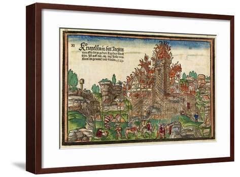 Destruction of the Krögelstein Castle by the Swabian League-Hans Wandereisen-Framed Art Print