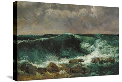 The Wave-Gustave Courbet-Stretched Canvas Print