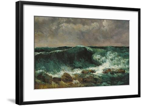 The Wave-Gustave Courbet-Framed Art Print