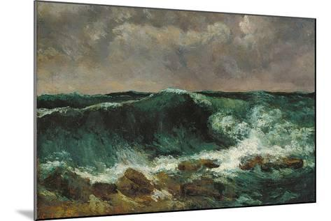 The Wave-Gustave Courbet-Mounted Giclee Print