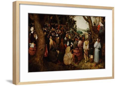 The Sermon of Saint John the Baptist-Pieter Bruegel the Elder-Framed Art Print