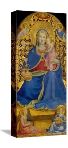 The Virgin of Humility-Fra Angelico-Stretched Canvas Print