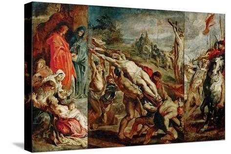 The Elevation of the Cross (Sketch for the Triptyc)-Peter Paul Rubens-Stretched Canvas Print