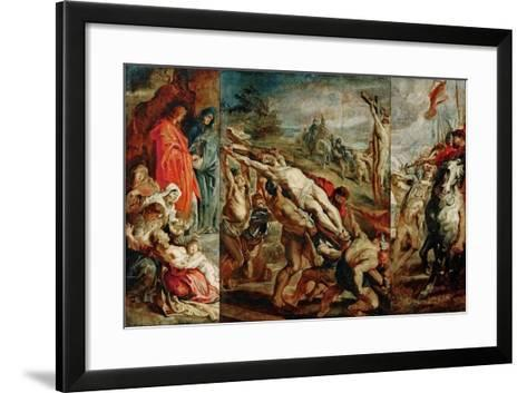 The Elevation of the Cross (Sketch for the Triptyc)-Peter Paul Rubens-Framed Art Print