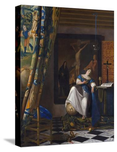 The Allegory of the Faith-Johannes Vermeer-Stretched Canvas Print