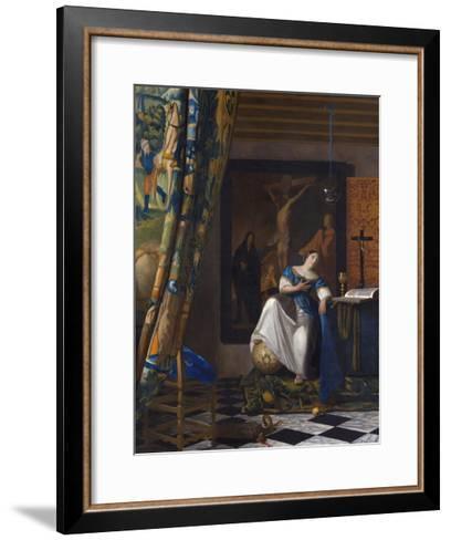 The Allegory of the Faith-Johannes Vermeer-Framed Art Print