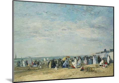 The Beach at Trouville-Eug?ne-Louis Boudin-Mounted Giclee Print