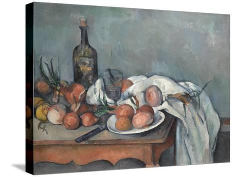 Still Life with Onions, 1896-1898-Paul C?zanne-Stretched Canvas Print