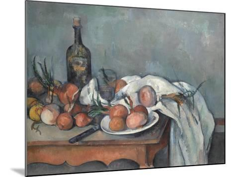 Still Life with Onions, 1896-1898-Paul C?zanne-Mounted Giclee Print