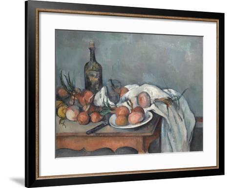 Still Life with Onions, 1896-1898-Paul C?zanne-Framed Art Print