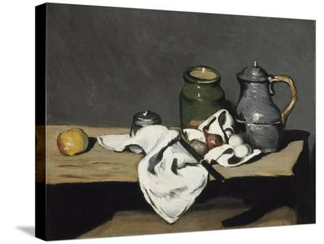 Still Life with Kettle, 1867-1869-Paul C?zanne-Stretched Canvas Print