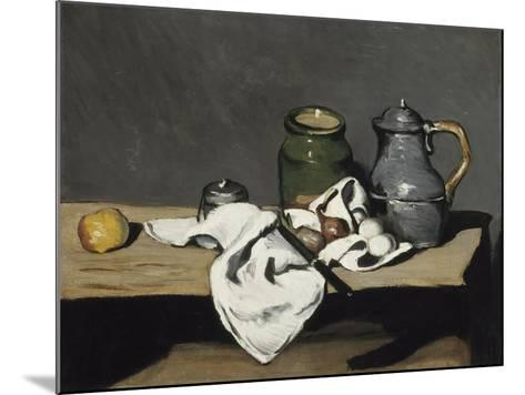 Still Life with Kettle, 1867-1869-Paul C?zanne-Mounted Giclee Print