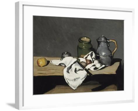 Still Life with Kettle, 1867-1869-Paul C?zanne-Framed Art Print