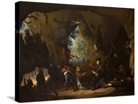 Calvin in Hell-Egbert van Heemskerk the Younger-Stretched Canvas Print