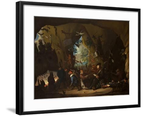 Calvin in Hell-Egbert van Heemskerk the Younger-Framed Art Print