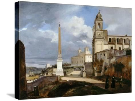 Santa Trinità Dei Monti and Villa Medici in Rom-Fran?ois Marius Granet-Stretched Canvas Print