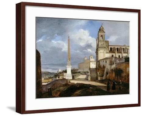Santa Trinità Dei Monti and Villa Medici in Rom-Fran?ois Marius Granet-Framed Art Print