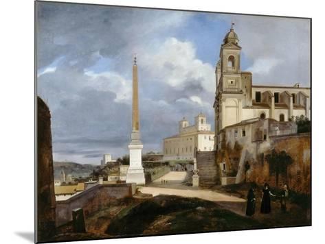 Santa Trinità Dei Monti and Villa Medici in Rom-Fran?ois Marius Granet-Mounted Giclee Print