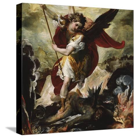 Saint Michael Vanquishing Satan-Francesco Maffei-Stretched Canvas Print