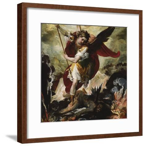 Saint Michael Vanquishing Satan-Francesco Maffei-Framed Art Print