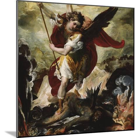Saint Michael Vanquishing Satan-Francesco Maffei-Mounted Giclee Print