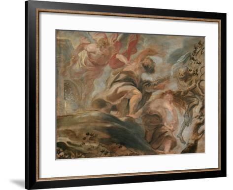 The Expulsion from the Garden of Eden-Peter Paul Rubens-Framed Art Print