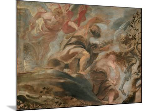 The Expulsion from the Garden of Eden-Peter Paul Rubens-Mounted Giclee Print