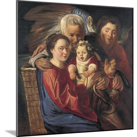 The Holy Family with an Angel-Jacob Jordaens-Mounted Giclee Print