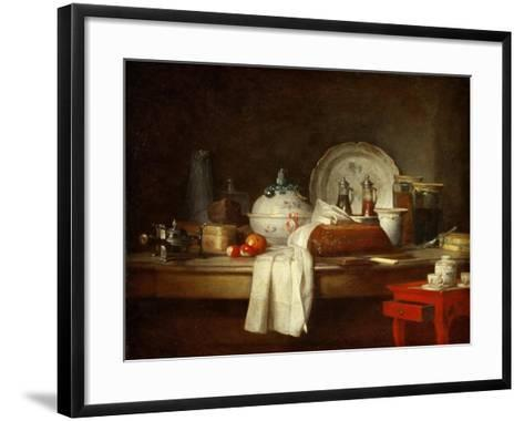 The Officers' Mess or the Remains of a Lunch-Jean-Baptiste Simeon Chardin-Framed Art Print