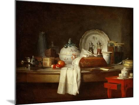 The Officers' Mess or the Remains of a Lunch-Jean-Baptiste Simeon Chardin-Mounted Giclee Print