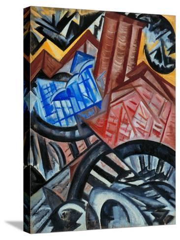 Factory and the Bridge-Olga Vladimirovna Rozanova-Stretched Canvas Print