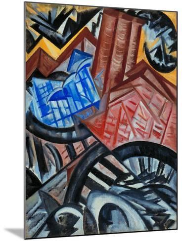 Factory and the Bridge-Olga Vladimirovna Rozanova-Mounted Giclee Print