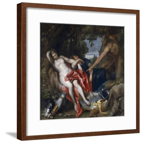 Diana and Her Nymph Surprised by Satyr-Sir Anthony Van Dyck-Framed Art Print