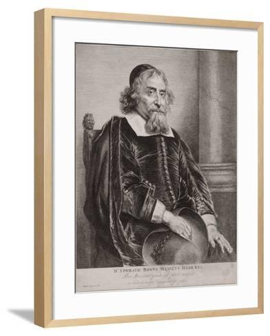 Portrait of Ephraim Bueno-Jan Lievens-Framed Art Print