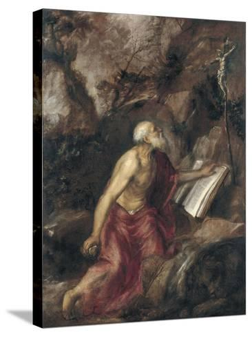 The Penitent Saint Jerome-Titian (Tiziano Vecelli)-Stretched Canvas Print