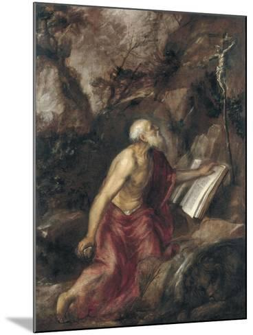 The Penitent Saint Jerome-Titian (Tiziano Vecelli)-Mounted Giclee Print