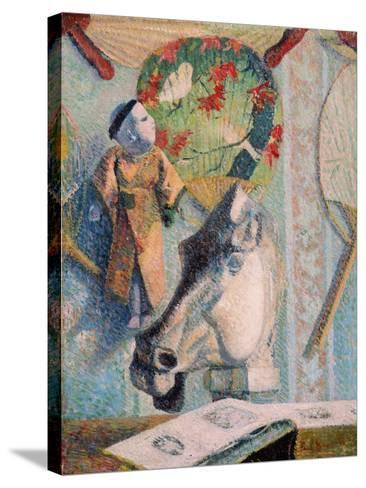 Still Life with Horse's Head-Paul Gauguin-Stretched Canvas Print