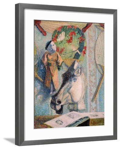 Still Life with Horse's Head-Paul Gauguin-Framed Art Print