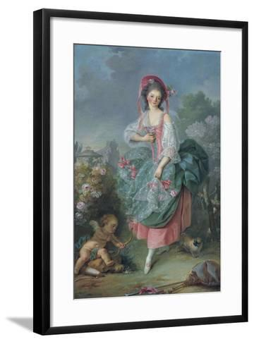 Ballerina Marie-Madeleine Guimard (1743-181) as Terpsichore-Jacques Louis David-Framed Art Print