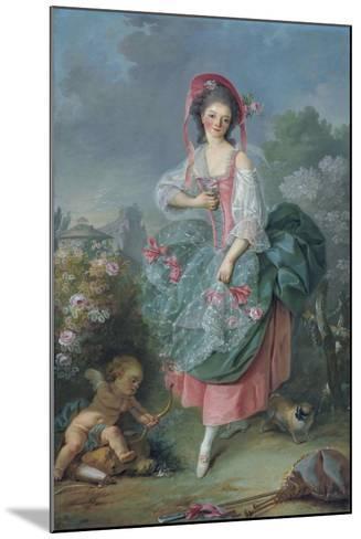 Ballerina Marie-Madeleine Guimard (1743-181) as Terpsichore-Jacques Louis David-Mounted Giclee Print