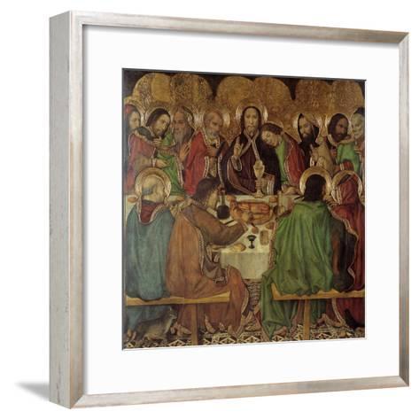 The Last Supper-Jaume Huguet-Framed Art Print