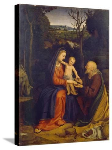 The Rest on the Flight into Egypt-Andrea Solari-Stretched Canvas Print